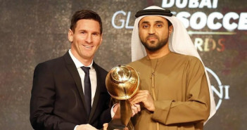 Lionel Messi wins Best Player of the Year award in Dubai