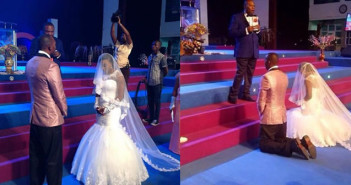 Shots from super falcon defender Faith Ikidi's wedding