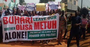 Anambra state youths protest over Metuh's continous detention