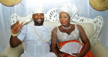 Traditional wedding pics of Mike Ukpabia and actress Ifunanya Igwe