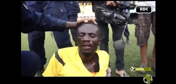 Angry football fans pursue and beat up Referee