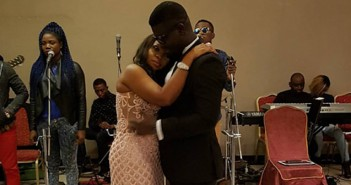 Seyi Law and wife's fifth wedding anniversary party