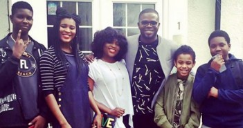 Funke Akindele meets JJC's family, his mum and kids