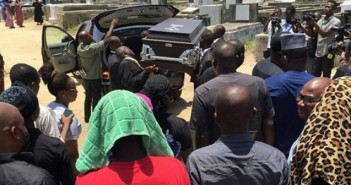 Photos from the funeral ceremony of Singer and entertainer, Nomoreloss