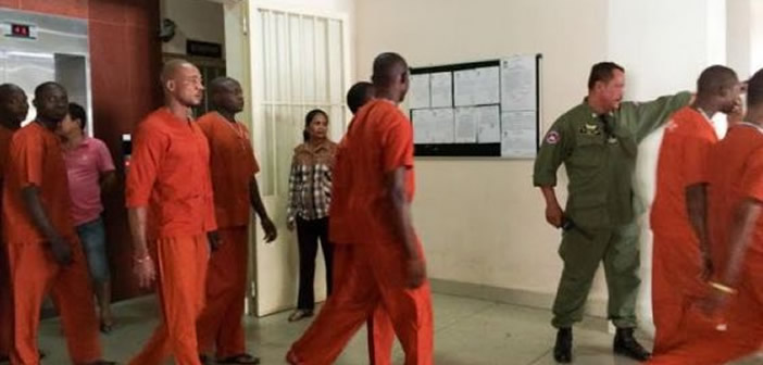 Trial of eight Nigerian men charged with drug trafficking in Cambodia resumes