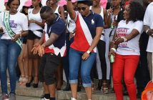 Governor Ayade and his wife Linda dancing during Carnival Calabar Dry Run Campaign (Photos)