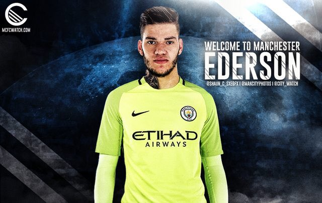 5792e4bfd Manchester City confirm signing of Brazilian goalkeeper in £35million deal