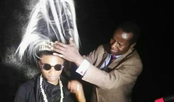 Photos: Wizkid honored with a chieftaincy title in Uganda