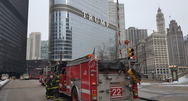 Trump Towers on Fire