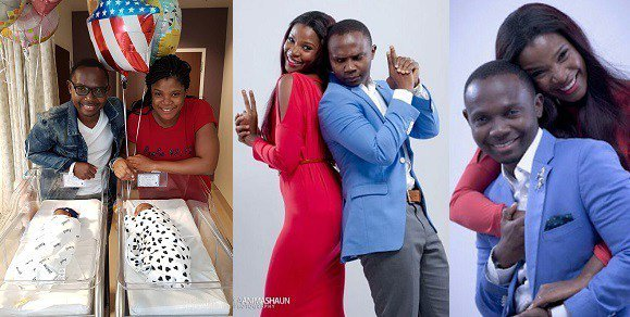 Teju Babyface blessed with twins 6 years after wedding