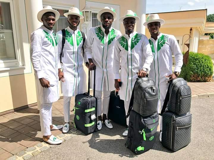 Image result for Nigeria Super Eagles depart for russia