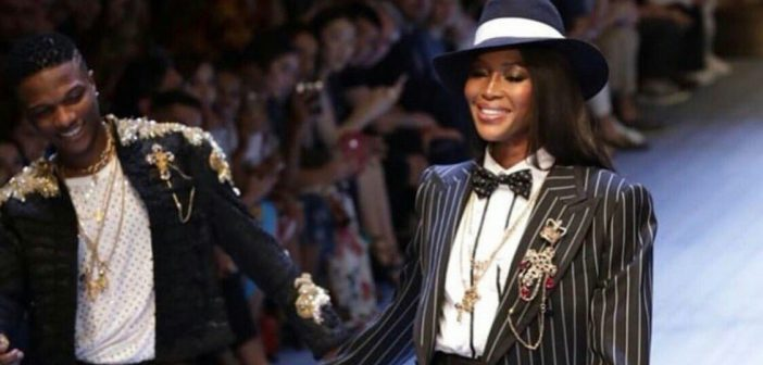Wizkid joins Naomi Campbell on Dolce and Gabbana runway