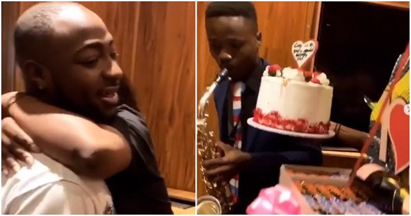 Davido surprises Chioma with gifts on Valentine