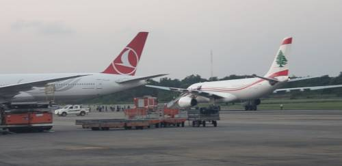BREAKING: Two Airplanes Collide At Lagos Airport